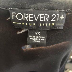 Forever 21 Tops - Forever 21 Blue & Black Sleeveless Blouse 2x